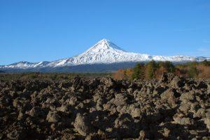 Escorial de lava volcánica en las inmediaciones del volcán LLaima