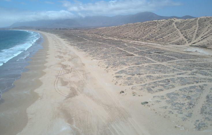 Caso de erosión extensiva.