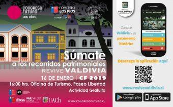 Afiche actividad visitas guiadas App Revive Valdivia