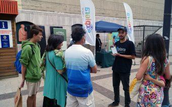 En la tarde turistas y residentes conocieron algunos hitos de la aplicación