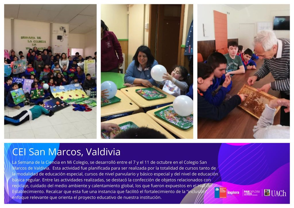 Entregan premios del concurso Día de la Ciencia en mi Colegio - Los Ríos