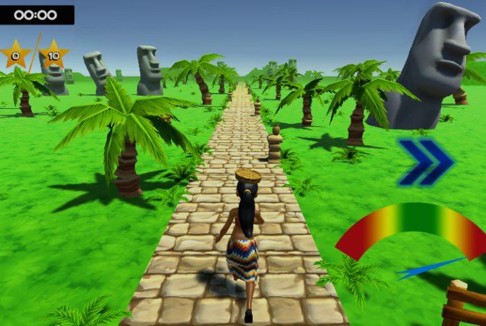Interfaz de Kinemotion, un juego que acelera la rehabilitación de pacientes con movilidad reducida.
